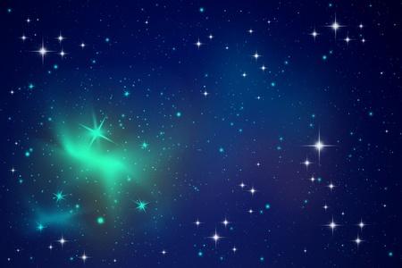 Stelle di illuminazione nel cielo notturno