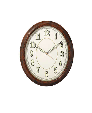 midnight hour: Wooden clock