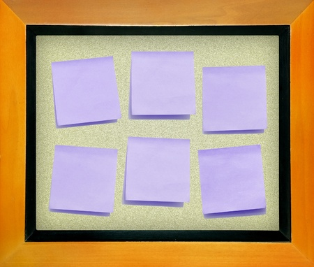 color memo  paper on cork board isolated for text and background Stock Photo - 9127721