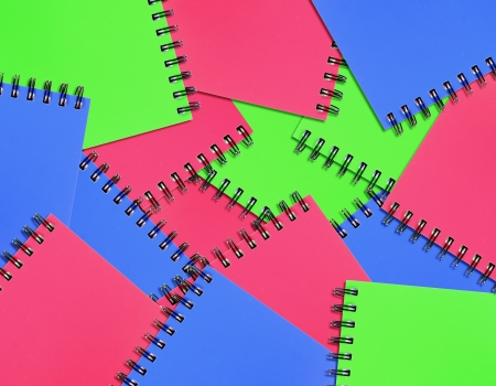 penmanship: colorful of notebook background  Stock Photo