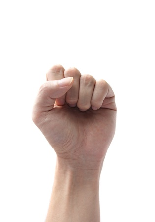 fist clenched: hand fist symbol isolated