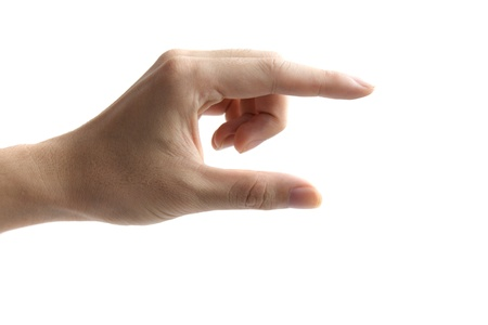 hands as if holding something between thumb Stock Photo - 9615353