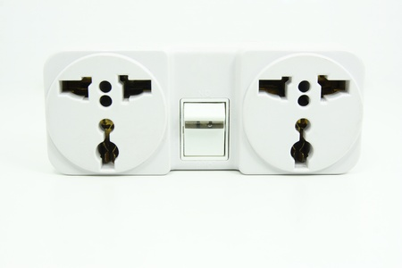 electrical power socket plug switched  photo