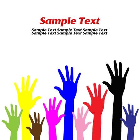 Hands volunteering or voting Stock Photo