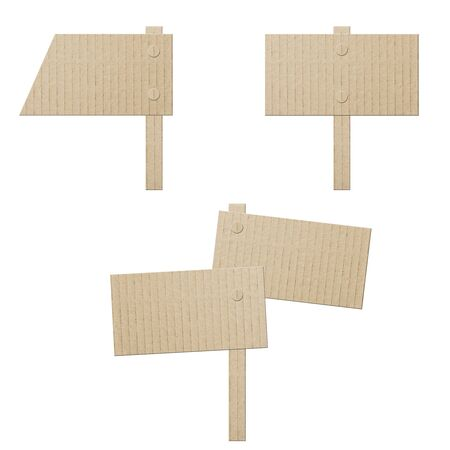 set cardboard banners isolated on white photo