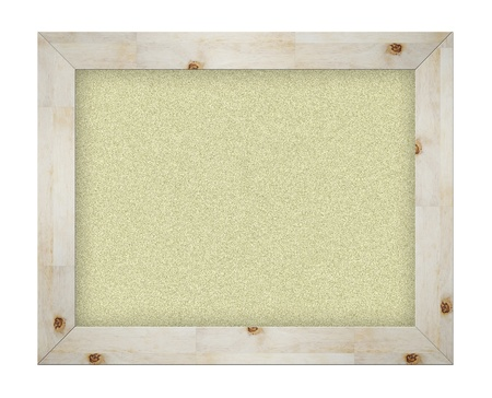 Empty office cork notice board isolated with wood frame  photo