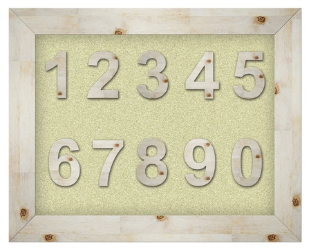 wooden number on board isolated Stock Photo - 9894178