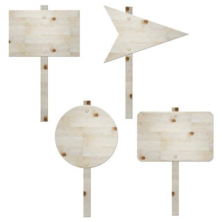 houten bord geïsoleerd op wit, verkeersbord