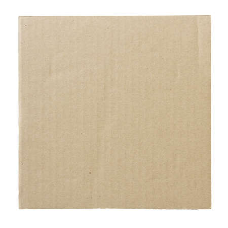 recycled cardboard isolated on white  photo