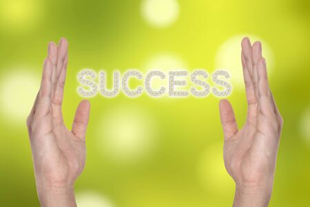 Success in hand , successful business idea Stock Photo - 9894037