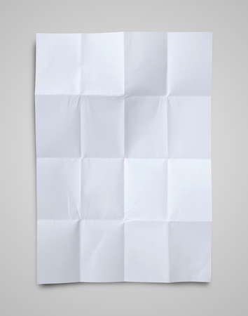 Empty white Crumpled paper on white background photo