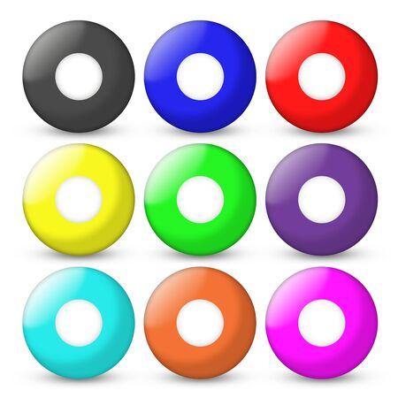 bingo balls set empty on center photo
