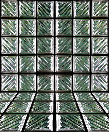 Pattern of Glass Block Wall  photo