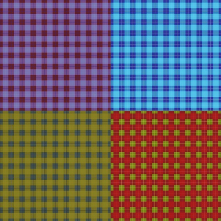 set of abstract seamless tartan texture Stock Photo - 9894304