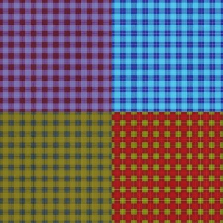 set of abstract seamless tartan texture Stock Photo - 9894304