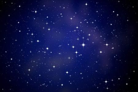 Sterren in de nachtelijke hemel
