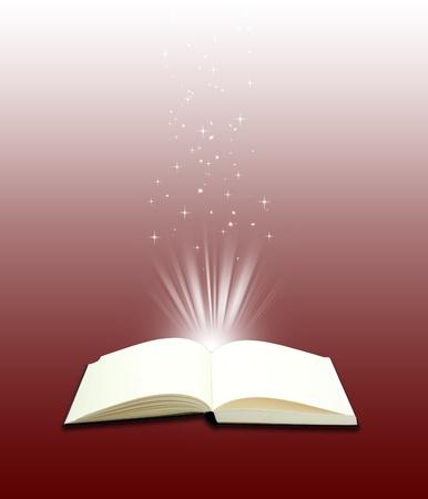 Open boek magic - Onderwijs begrip Stockfoto