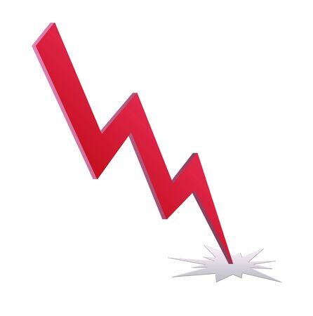Krachtige verlichting symbool op witte achtergrond Stockfoto