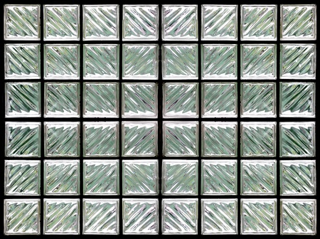 Patroon van glasblokken muur Stockfoto