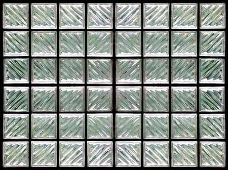 distort: Pattern of Glass Block Wall Stock Photo
