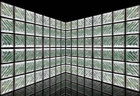 Glass Block Wall Room Stock Photo - 10019971
