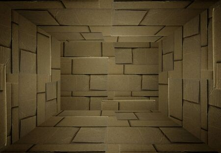 corrugated box: room paper background