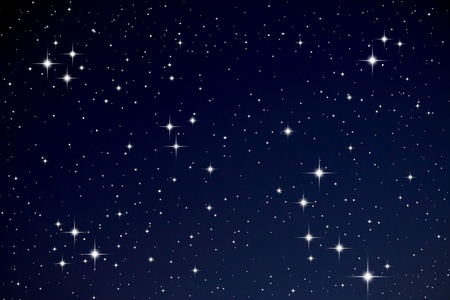 Sterren in de nachtelijke hemel Stockfoto