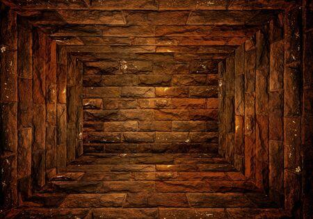 room with brick wall photo