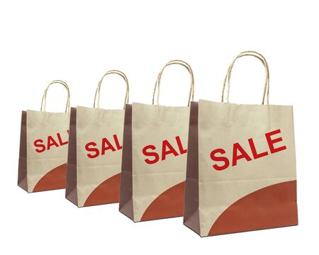 shopping bags with the word sale isolated on white Stock Photo - 10020020