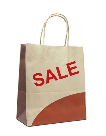 shopping bags with the word sale isolated on white Stock Photo - 10020011