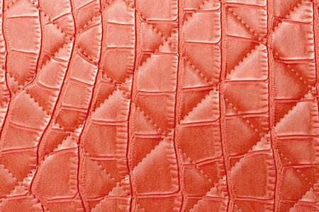 texture red leather bag photo