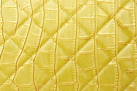 bumped: texture yellow leather bag