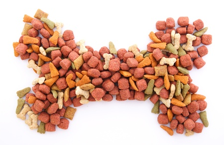 dog food: dog food isolated Stock Photo