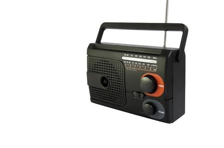 transistor: Radio noir Banque d'images
