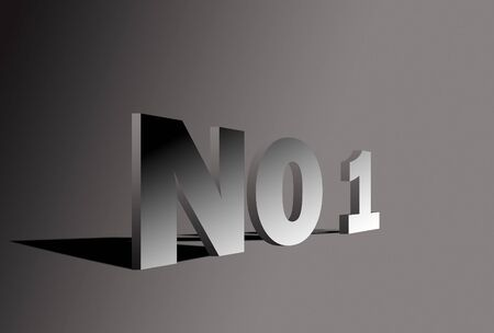 no1: Letter NO1 in 3D