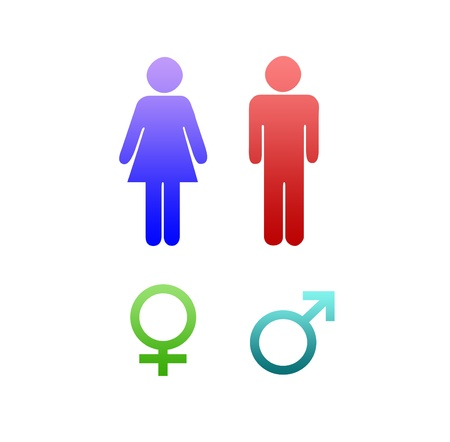 Men and women sign photo