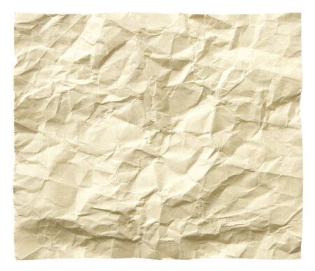 recycled crumpled paper isolated photo