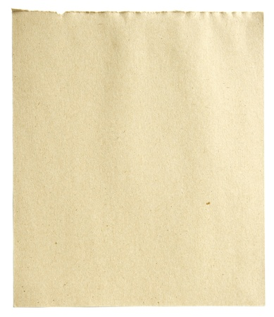 Blank recycle paper isolated photo