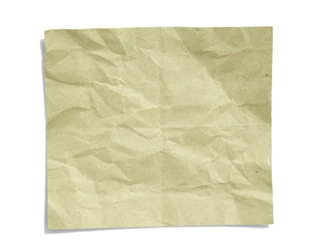 crinkled: recycled crumpled paper isolated