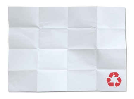 white paper of recycle isolated photo
