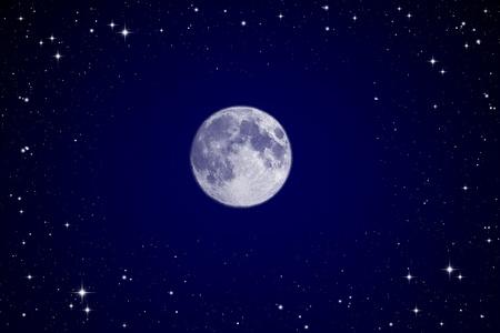 Full moon in night sky photo