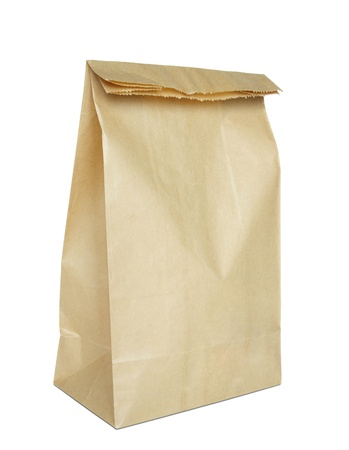 Brown paper bag isolated on white Stock Photo - 10447232