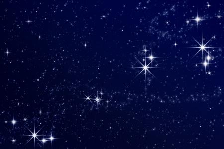 Sterren aan de nachtelijke hemel Stockfoto