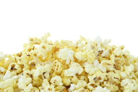 Pop Corn op een witte achtergrond Stockfoto