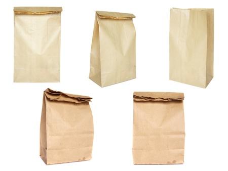Brown paper bag set Stock Photo - 10492408