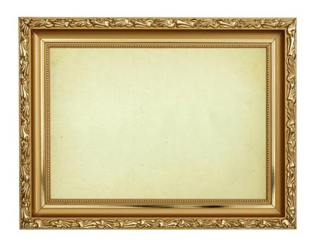 Cornice dorata su sfondo bianco