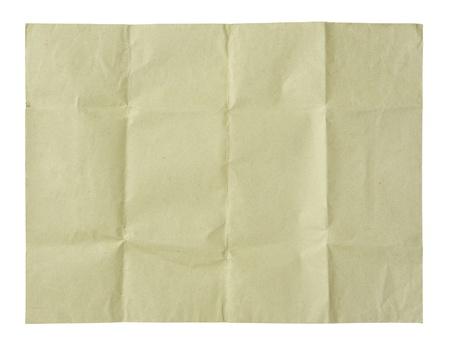 carta riciclata sgualcita isolato su bianco