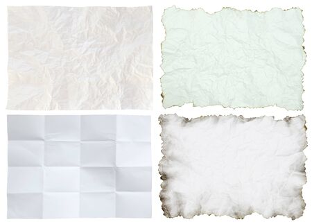 crumpled paper collection isolated Stock Photo - 10668629