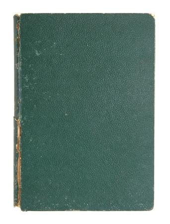 oude lederen cover van het boek op wit wordt geïsoleerd Stockfoto