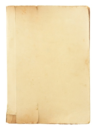blank book cover: old book pages isolated on white